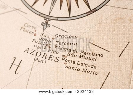 Azores Map Detail