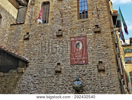 House-museum Of Dante Alighieri Shows The Life & Works Of The Great Italian Poet. It Is Located In T