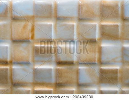 Texture And Surface Of The Ceramic Tile Wall