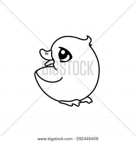 Vector Line Cartoon Animal Clip Art Ducky Duck