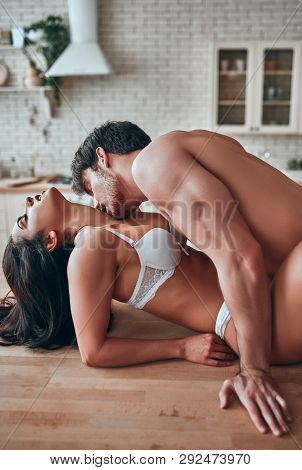 Sexy Couple On Kitchen