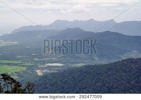 Amazing Landscape View From The Observation Tower At Gunung Raya, The Highest Point In Langkawi, Mal