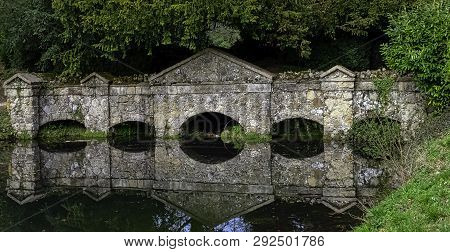 Stowe, Buckinghamshire, Uk - March 28: Picture Of Shell Bridge On March 28, 2019 In Stowe, Buckingha