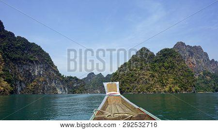 Longtail Boat Trip On Chiao Lan Lake In Thailand