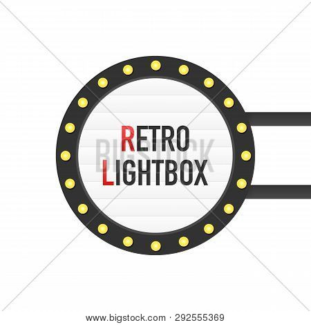 Retro Lightbox Billboard Vintage Frame. Lightbox With Customizable Design. Classic Banner For Your P