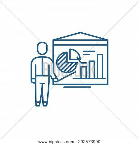 Accounting Analysis Line Icon Concept. Accounting Analysis Flat  Vector Symbol, Sign, Outline Illust