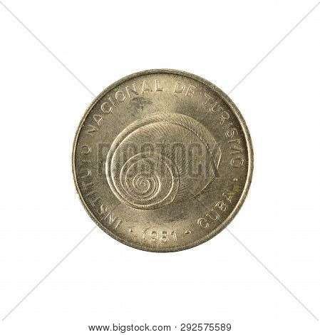 5 Cuban Intur Centavo Coin (1981) Obverse Isolated On White Background