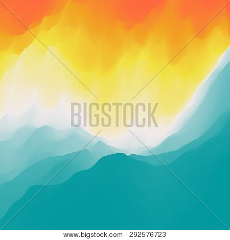 Water Wave. Water Surface. Nature Background. Modern Pattern. Vector Illustration For Your Design. F