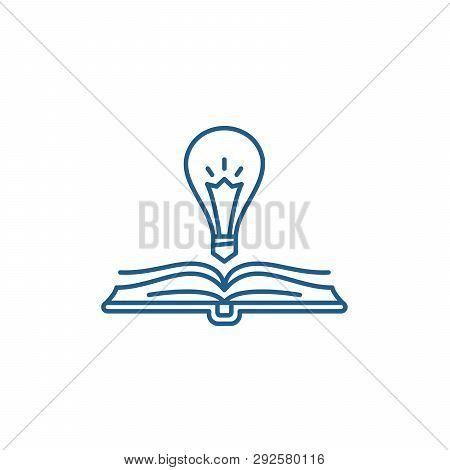 Book Wisdom Line Icon Concept. Book Wisdom Flat  Vector Symbol, Sign, Outline Illustration.