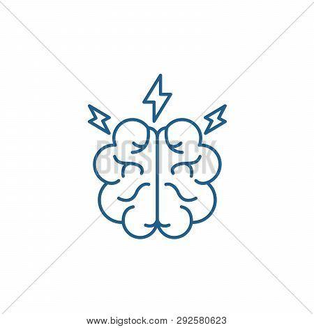 Brainstorm Line Icon Concept. Brainstorm Flat  Vector Symbol, Sign, Outline Illustration.