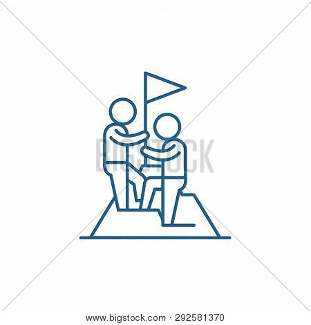 Business Competition Line Icon Concept. Business Competition Flat  Vector Symbol, Sign, Outline Illu