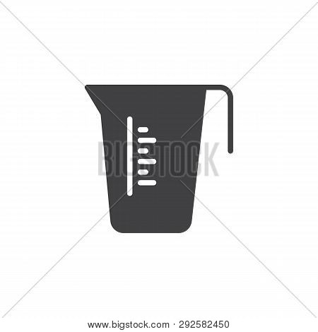 Measuring Cup Vector Icon. Filled Flat Sign For Mobile Concept And Web Design. Carafe Container Jug
