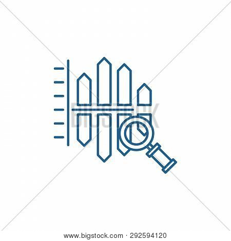 Cost And Revenue Analysis Line Icon Concept. Cost And Revenue Analysis Flat  Vector Symbol, Sign, Ou