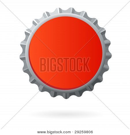 isolated bottle cap