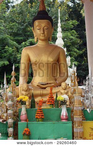 Buddha statue in Vientiane, Laos