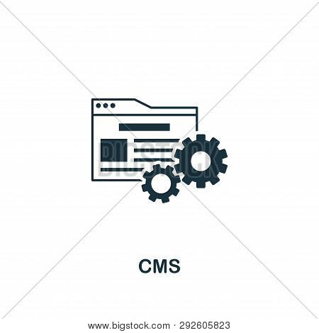 Cms Icon. Creative Element Design From Content Icons Collection. Pixel Perfect Cms Icon For Web Desi