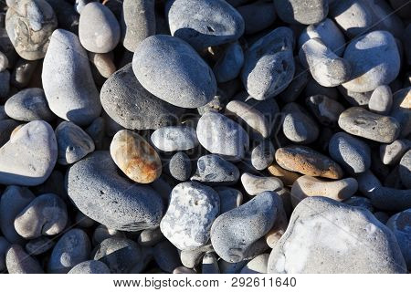 Stones In The Beach, Le Hourdel, Somme, Hauts-de-france, France