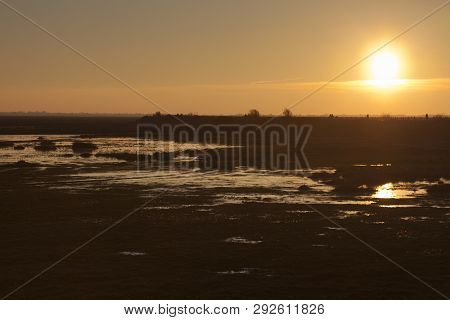Nightfall In The Baie De Somme, Hauts-de-france, France
