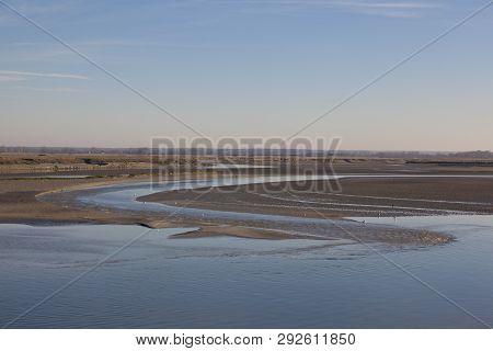 View Of The Baie De Somme, Saint-valery-sur-somme, Somme, Hauts-de-france, France