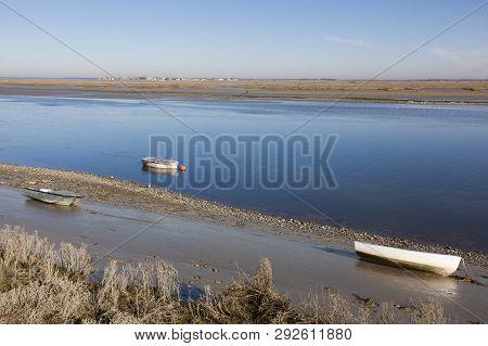 Boats In The Baie De Somme, Saint-valery-sur-somme, Somme, Hauts-de-france, France