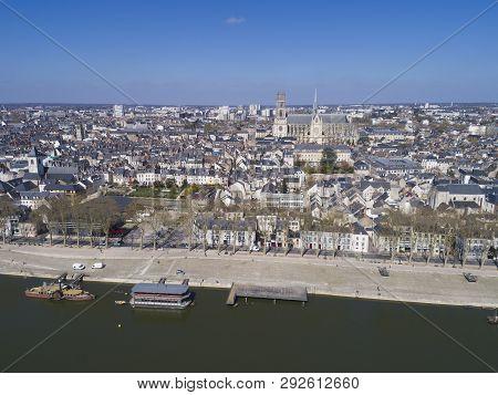 Aerial View Of Orleans, Loiret, Centre-val De Loire, France
