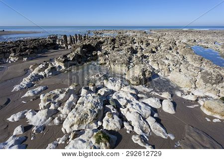 Beach Of Ault In Somme, Hauts-de-france, France