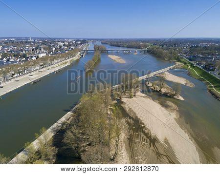 Loire River In Orleans, Loiret, Centre-val De Loire, France
