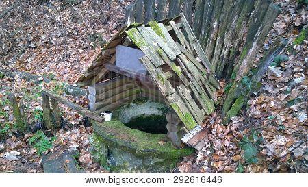 The Well Of Jiri Wolker, Dolany, District Olomouc, Self-governing Region Olomouc, Czech Republic