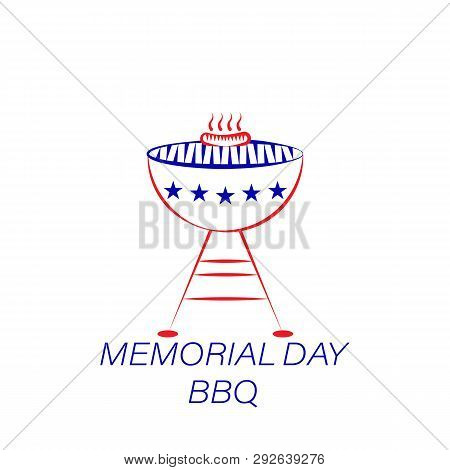 Memorial Day Bbq Colored Icon. Element Of Memorial Day Illustration Icon. Signs And Symbols Can Be U