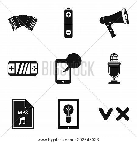 Music Genre Icons Set. Simple Set Of 9 Music Genre Icons For Web Isolated On White Background