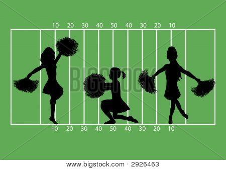 Cheerleaders Football