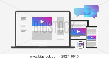 Programmatic Targeting Marketing And Native Advertising- Cross-device And Multi Target Audience Ads