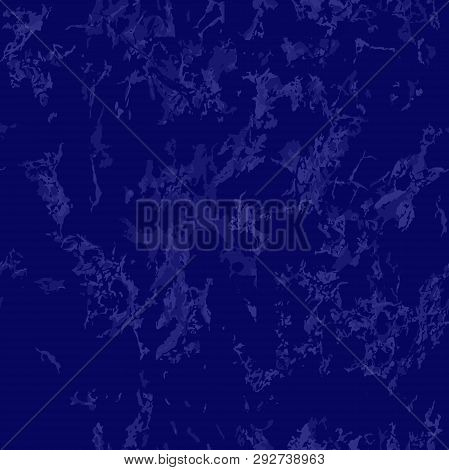 Blue Marble Texture Background. Seamless Pattern. Cornflower Stone Background. Abstract Texture For