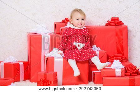 Baby First Christmas Once In Lifetime Event. Sharing Joy Of Baby First Christmas With Family. Little