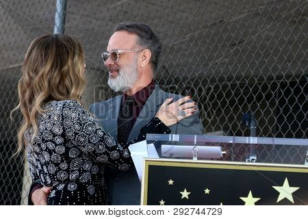 LOS ANGELES - MAR 29:  Rita WIlson, Tom Hanks at the Rita Wilson Star Ceremony on the Hollywood Walk of Fame on March 29, 2019 in Los Angeles, CA