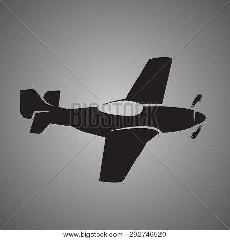 Legendary Wwii American Fighter Aircraft Vector Icon.