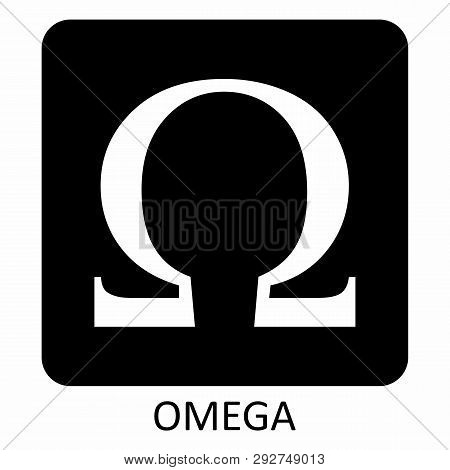 The Illustration Of A Black And White Omega Symbol