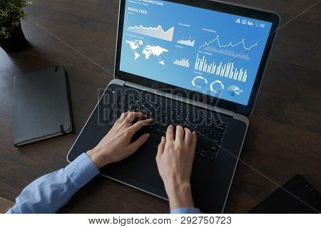 Digital Marketing Strategy Dashboard On The Screen.