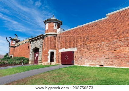 Walls, Gate And Watchtower Of The Former Sandhurst Gaol Which Operated In Bendigo, Australia From 18