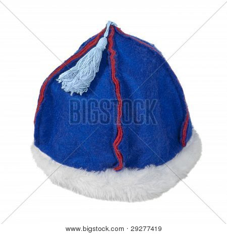 Felt Mongolian Hat With Fur Trim