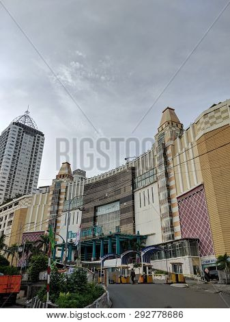 Jakarta, Indonesia - March 23, 2019: The Exterior Of Thamrin City Which Is Known As Batik Center Mar