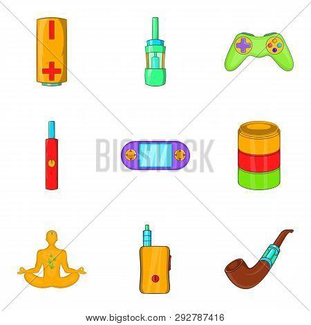 Detoxification Icons Set. Cartoon Set Of 9 Detoxification Icons For Web Isolated On White Background