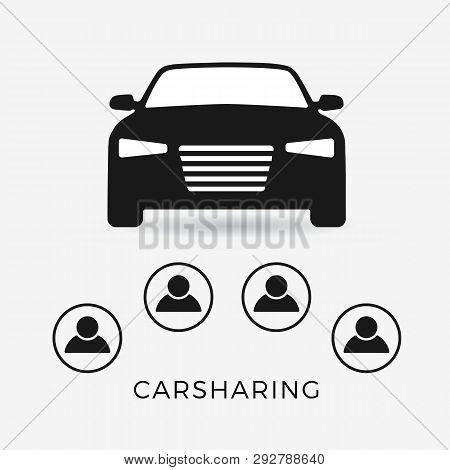 Car Sharing Flat Icon Vector Photo Free Trial Bigstock