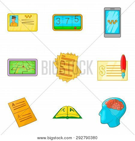 Enumeration icons set. Cartoon set of 9 enumeration icons for web isolated on white background poster