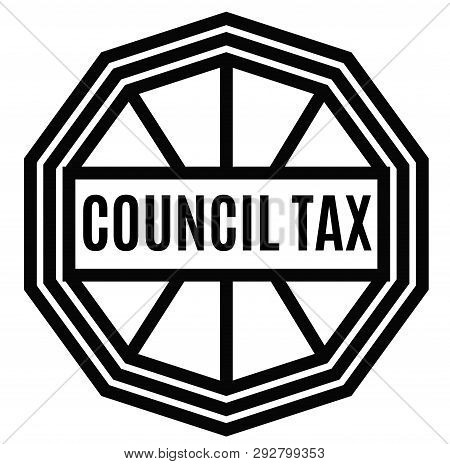 Council Tax Stamp On White Background. Labels And Stamps Series.