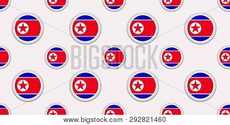 North Korea Round Vector Photo Free Trial Bigstock