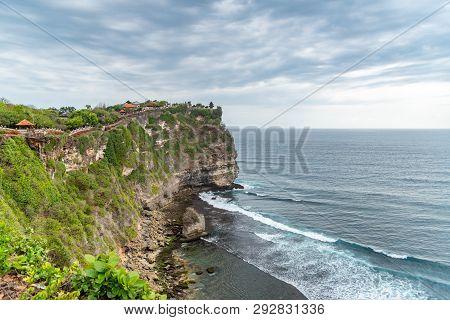 Uluwatu Temple Cliff Faced Rugged Coast Uluwatu, Bali / Indonesia - 11/07/2018