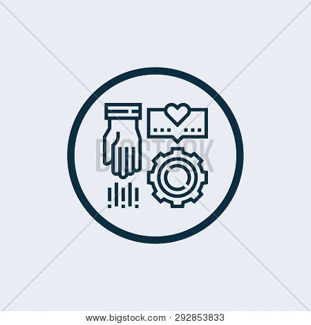 Echnical Support Icon In Trendy Design Style. Technical Support Icon Isolated On White Background. T