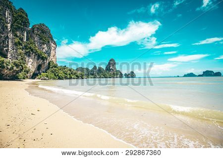 Beautiful Tonsai Beach In Krabi Province, Thailand
