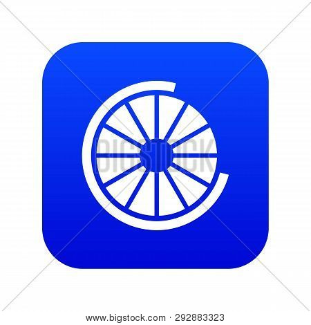 Sign incomplete download icon digital blue for any design isolated on white vector illustration poster
